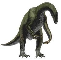 Le dinosaure therizinosaurus.