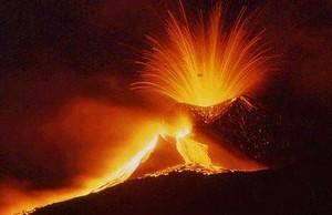 Le volcan Etna en Italie.